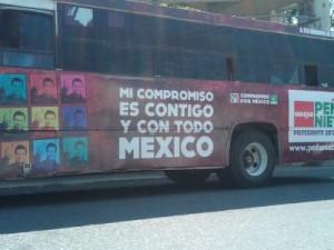 Peña Nieto en camión